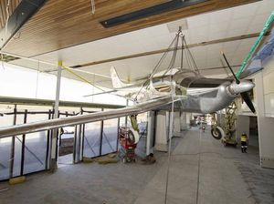 Historic plane soars in Wellcamp terminal