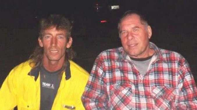 Southern Downs men Jeffrey Croft (left) and Mark Ciufici were killed when their vehicle crashed into a light pole on the New England Hwy.