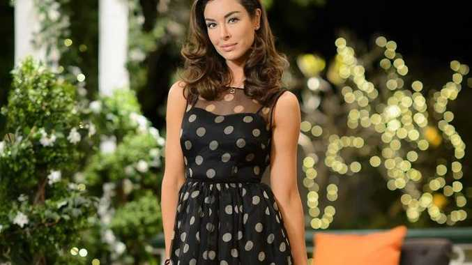 Laurina Fleure pictured during her last night on The Bachelor Australia.
