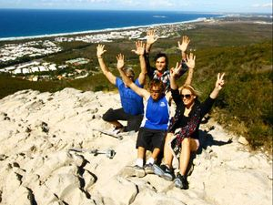 On top of the world on top of Mount Coolum