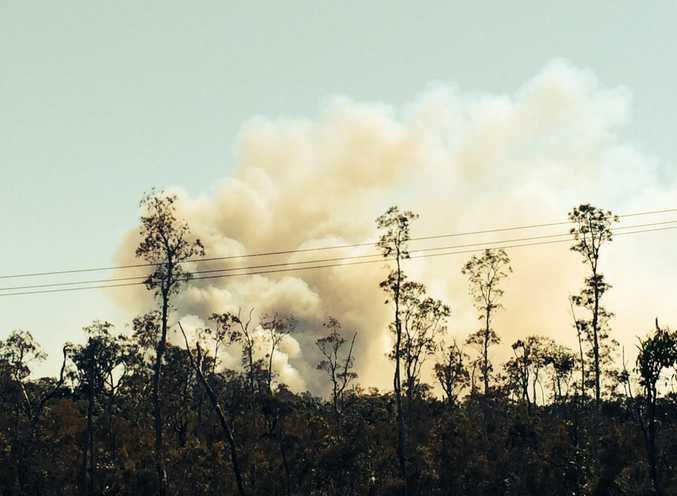 A lightning strike at Woorim has caused a bushfire this morning.
