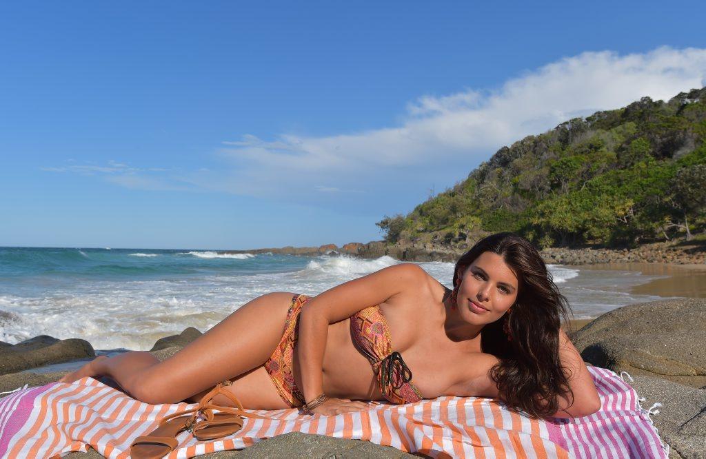 Coolum's Aquila Bergstrom enjoys the beauty of Second Bay. Photo: Brett Wortman / Sunshine Coast Daily