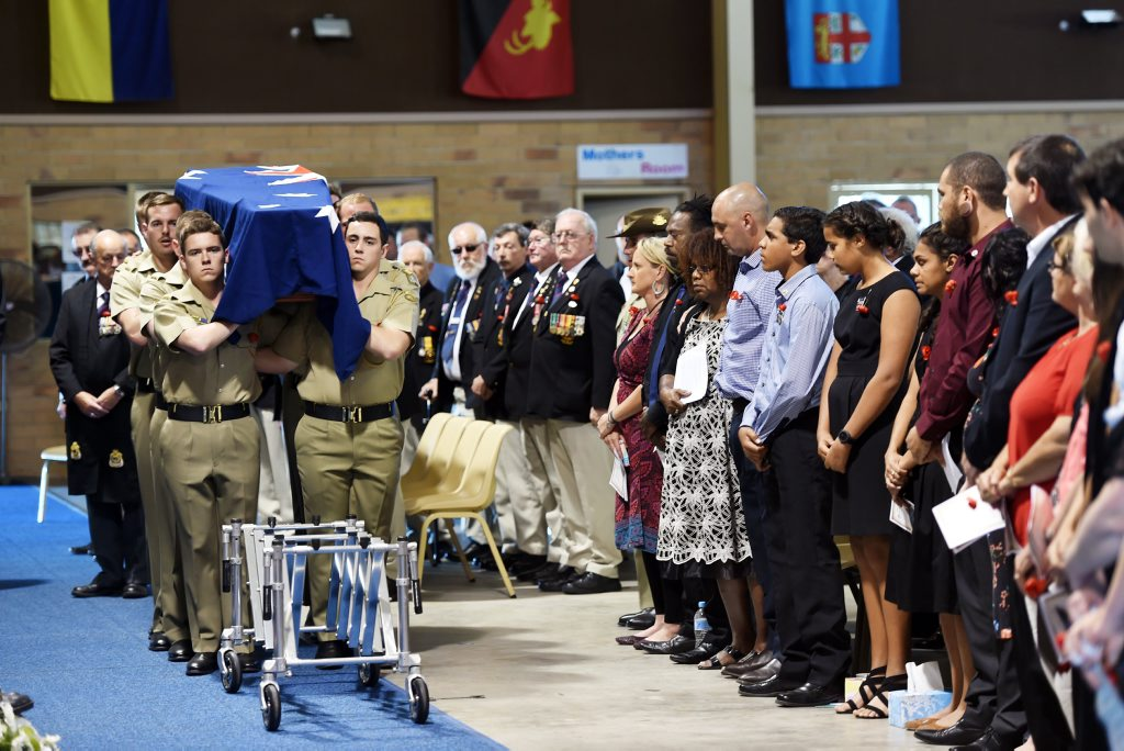 Almost 1000 family and friends attended the funeral service for Buddy Lea in Nikenbah.