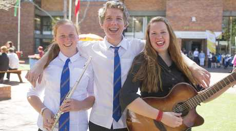 Representing the Cheetham family at today's TYME Festival are (from left) Laura, Nathan and Adoniqua Cheetham from Pittsworth State High School. Photo Contributed