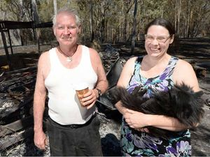 Charred surroundings clear sign family is lucky to keep home