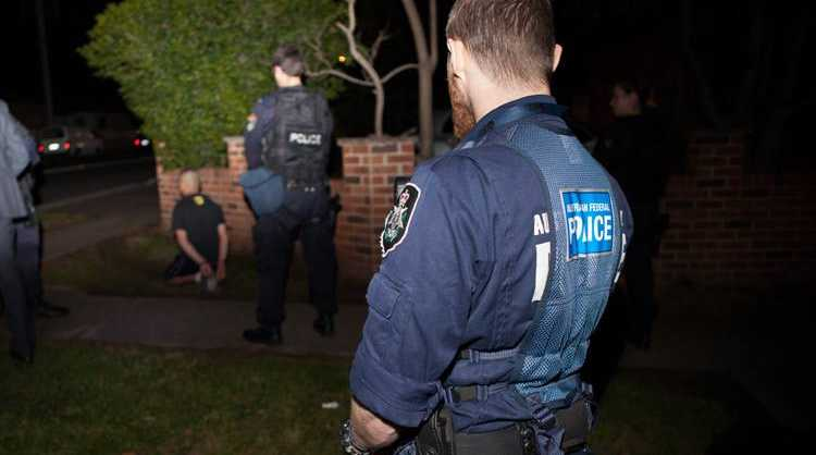 Image from the AFP, NSW Police counter-terrorism operation earlier this month. A new suite of raids has begun in Melbourne with the AFP and Victorian Police