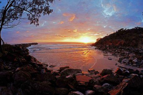 Dawn at Shark Bay, Evans Head, last week.