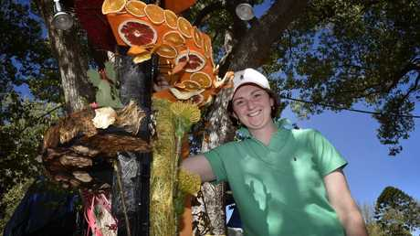 Finishing touches are added to the Ergon Energy Flower, Food and Wine Festival.