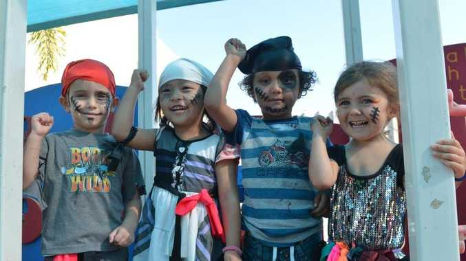 Zenith Bell, Dinita Sunuwar, Libaan Hajiyussuf and Rosemarry Waldon of Goodstart Early Learning got into the spiriit of 'Talk Like a Pirate Day'.