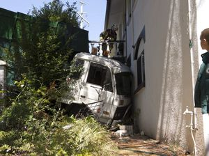 Family home hit by truck