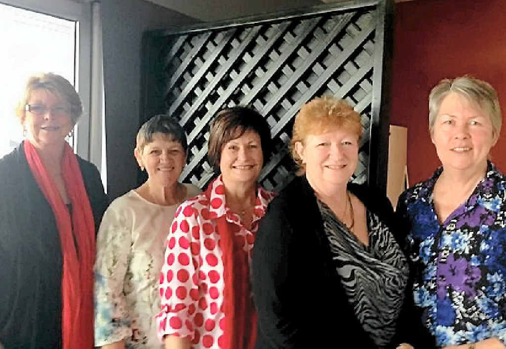 CLOSE FRIENDS: Five women recently celebrated turning 60 within four months of one another. (From left) Michelle Lamont, Audrey Guy, Yvonne McNelley, Marilyn Stewart and Daphne Pohle.