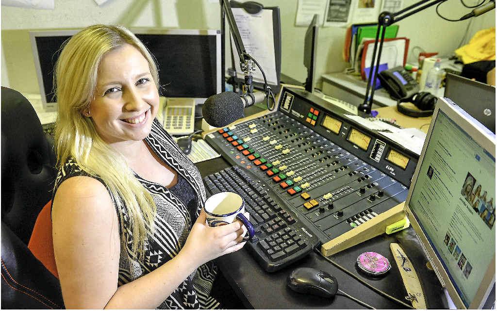 Hot FM radio announcer Emilie-Jain Palmer.
