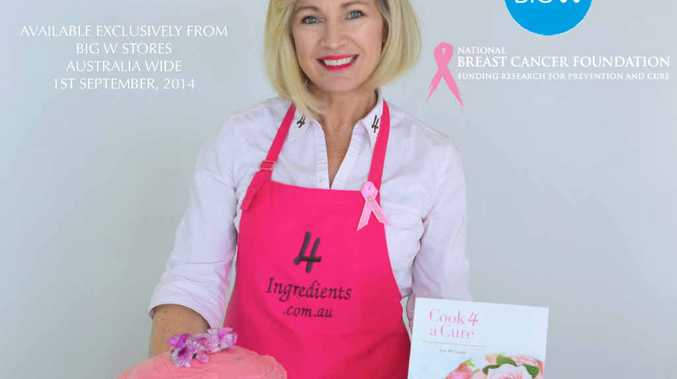 ON A MISSION: 4 Ingredients Cook book author Kim McCosker will be in Warwick on Thursday to promote her new book, Cook 4 A Cure, with an aim to raise $100,000 for the National Breast Cancer Foundation.