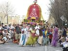Carnival of Flowers 2014: Grand Central Floral Parade.Gold Coast Bhakti Centre. Photo: Bev Lacey / The Chronicle