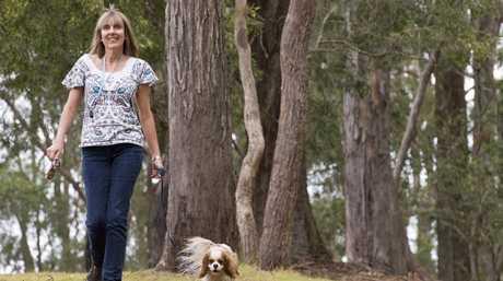 Elizabeth Addie with her dog Tumtum.