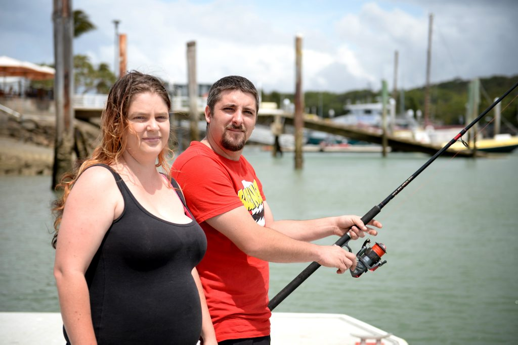 Amy Schnabel and her partner Sam Hill were fishing at Rosslyn Bay Harbour when fires destroyed two vessels and damaged another three. Photo Allan Reinikka / The Morning Bulletin