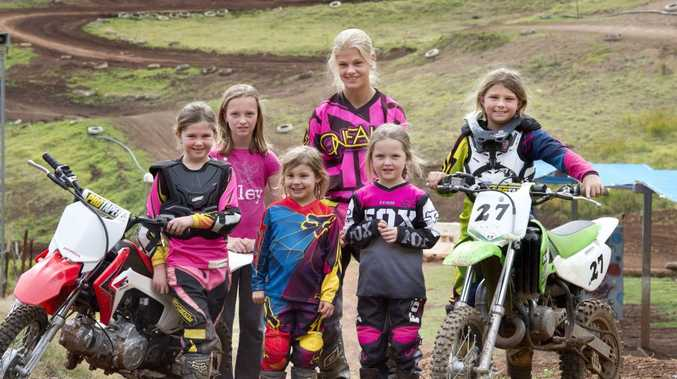 GIRLS REV UP: Matilda Fields, Bridie Ries, Sophie-Lee Schultz, Harmony Perry, Imogen Ries and Alana Schultz spend their weekend riding at Echo Valley.