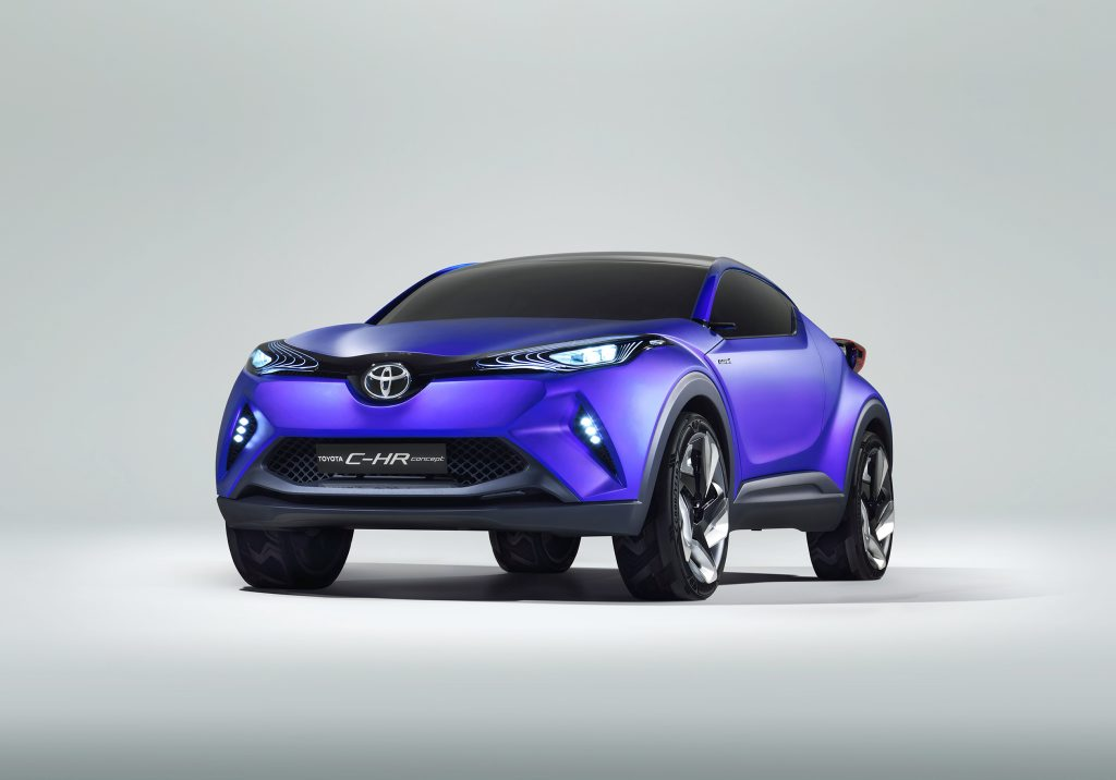 The Toyota C-HR will be unveiled at the Paris Motor Show next month.