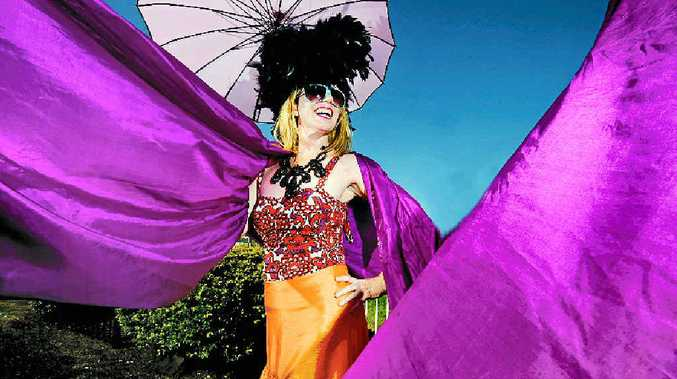 THAT'S COLOUR: The 2013 Lismore Cup – Dee Dee Chenille, Lismore's first burlesque exchange student and fashions on the field entrant from Phakatane, New Zealand.