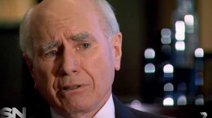 Former Prime Minister John Howard, on Channel 7's Sunday Night