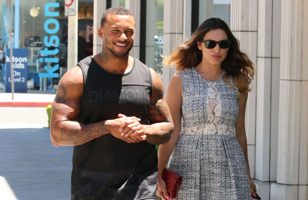 Kelly Brook and her fiancé David McIntosh