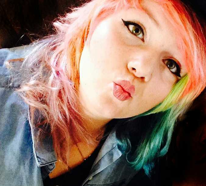 School girl Morgan Major says her hair colours help her to cope.