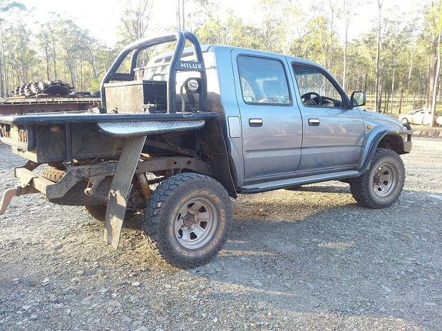 Thieves have stolen a broken-down Toyota Hilux left by the side of the Maryborough-Biggenden Rd.