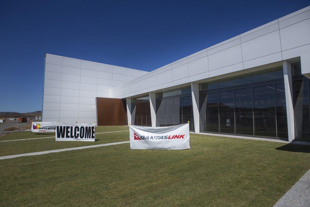 Terminal entrance at Wellcamp Airport.