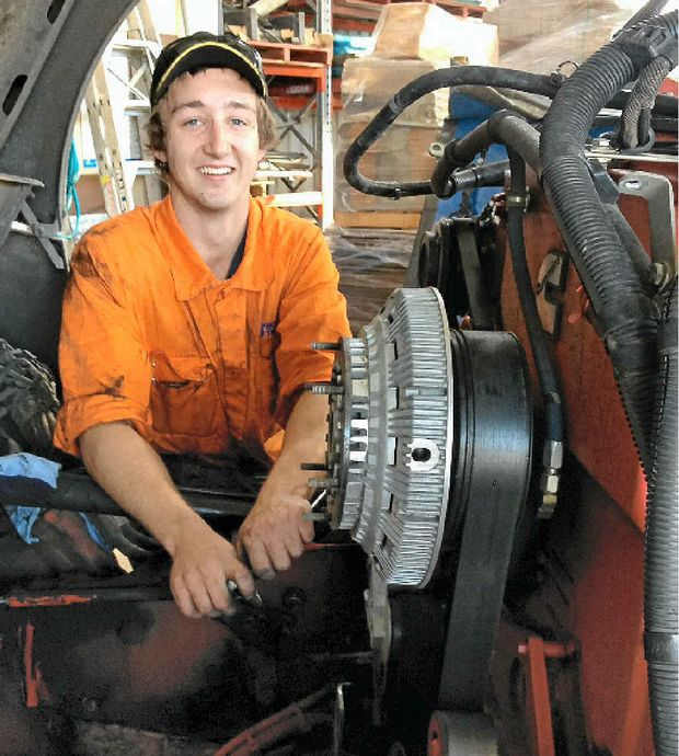 BIG TIME: Shoobridge Transport mechanic Mitch Aldcroft has won a career-building chance to attend the 2014 PACCAR and Dealer Technical Maintenance conference as part of the annual Cummins Scholarship.