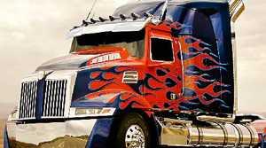 Optimus Prime styling.