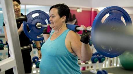 Personal trainer Mel Anttila and Jocelyn Sutton, 38, has lost more than 17kg in seven months through her dedication to the gym and getting healthy.