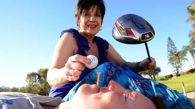 UMOJA GOLF DAY: Umoja founder Cathy Booth and event organiser Dan Thomas encourage everyone to come along and have a great time at the Umoja Orphanage Charity Golf Day to help raise much needed funds. Photo: Max Fleet / NewsMail