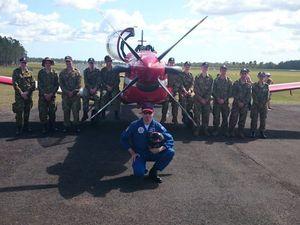 M'boro cadets watch solo aerobatics display