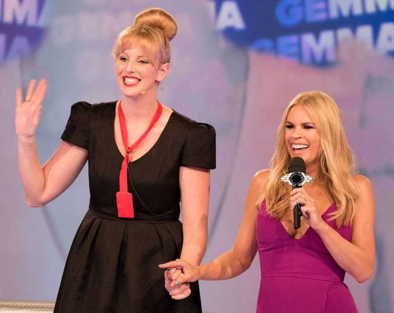 Big Brother's first evictee of 2014 Gemma Kinghorn pictured with host Sonia Kruger.