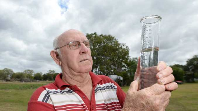 Ian Clayton recorded 115mm of rain in West Rockhampton. Photo: Chris Ison / The Morning Bulletin