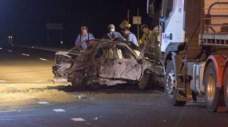 Three people died in this horror crash on the Warrego Hwy at Glenore Grove.
