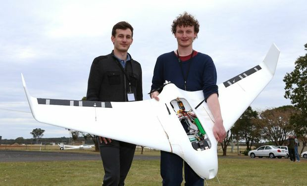 RESCUE MISSION: Ben and Daniel Dyer used their custom-made drone to rescue Outback Joe in their first UAV Outback Challenge.