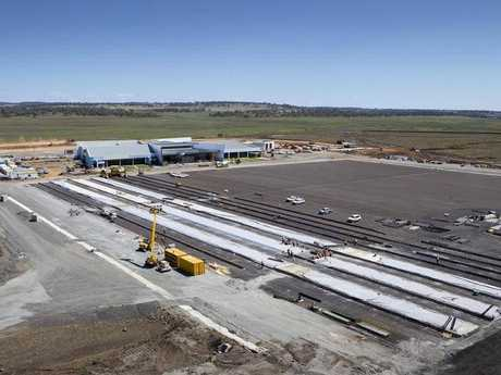 Construction continues at Brisbane West Wellcamp airport Photo Contributed
