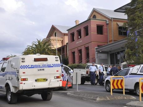 A man was arrested outside the Lismore police station in September 2014 after being involved in a police pursuit.