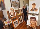 Beerwah's Julie Gould creates portraits with vegemite. She has been invited to exhibit at the Australian Inventions and Icons exhibition in Yamba. Photo: Brett Wortman / Sunshine Coast Daily