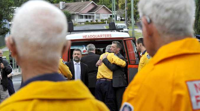 FAREWELL, PETER: A guard of honour was formed during the funeral for Kyogle Rural Fire Service Deputy Captain Peter Witton.