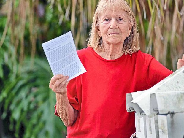 SHAKEN AND DISGUSTED: Jacquie Dubois-Stanton was shocked to find Islamic hate mail in her letterbox this week.
