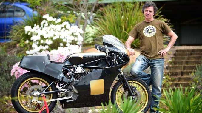 David Tye with his 1982 Ducati TT2 replica.