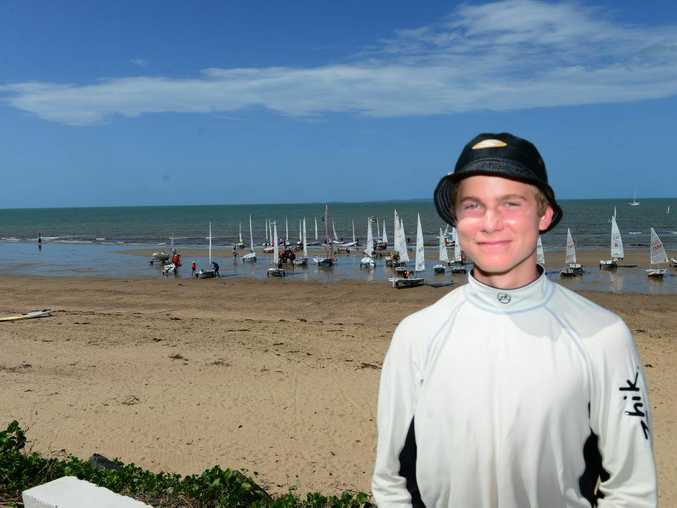 READY TO RACE: Keppel Bay Sailing Club competitor Jonno Pummell is ready to set sail at the Queensland Youth Yachting Championships in Yeppoon this weekend. Photo Melanie Plane/The Morning Bulletin