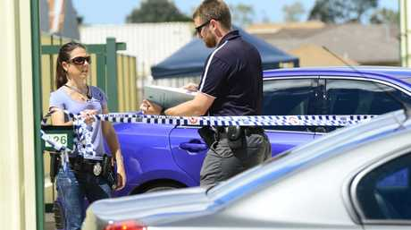 Police officers and detectives conduct drugs raids connected to bikie gangs at the Fort Know storage facility on Brigss Road in Raceview. Photo: David Nielsen / The Queensland Times