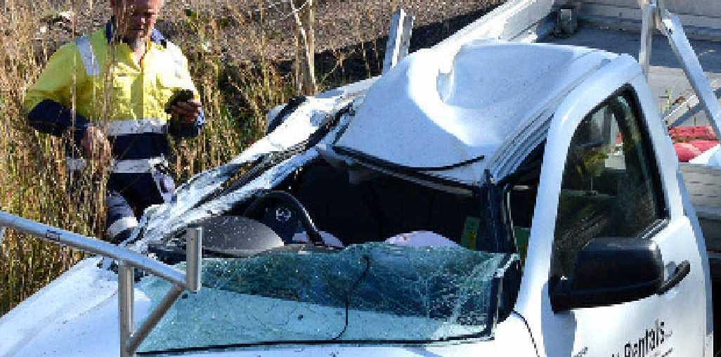 One of the crash scenes.