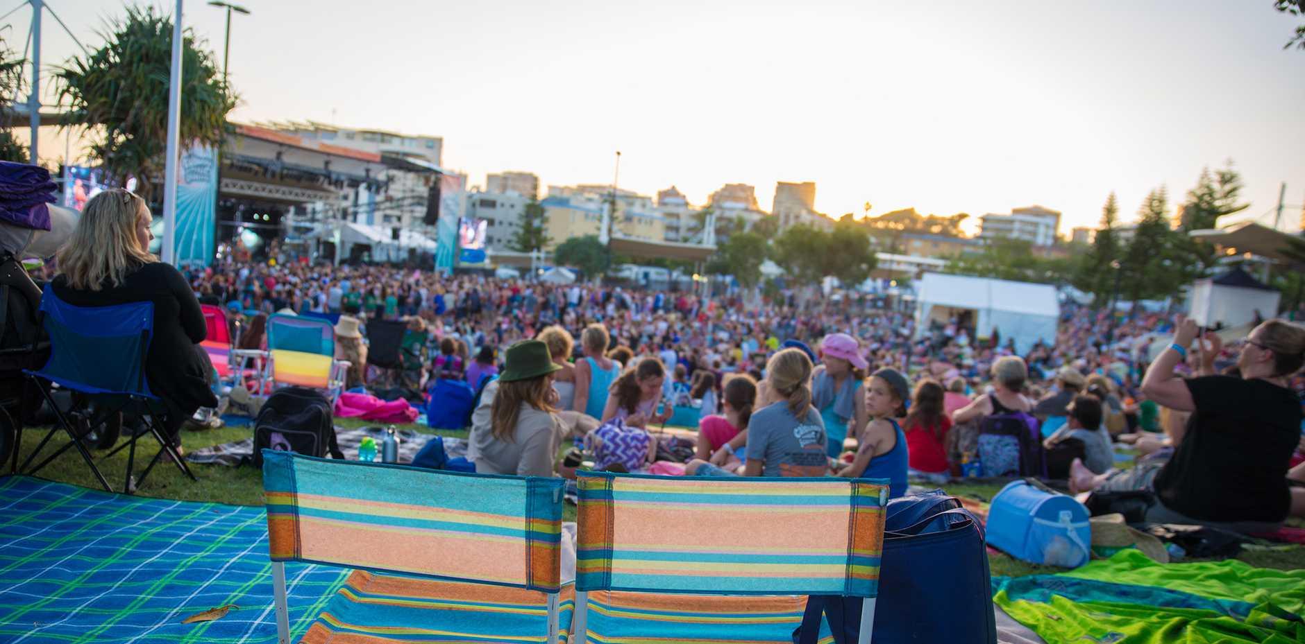 Crowd shot of Caloundra Music Festival.