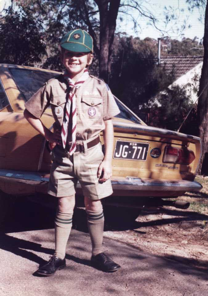 Peter was a keen scout as a boy.