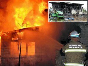 Blaze destroys home despite brave police