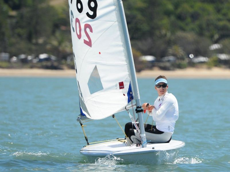 Indiabeau Laborie at the Queensland Youth Sailing Championships hosted by the Keppel Bay Sailing Club. Photo: Chris Ison / The Morning Bulletin